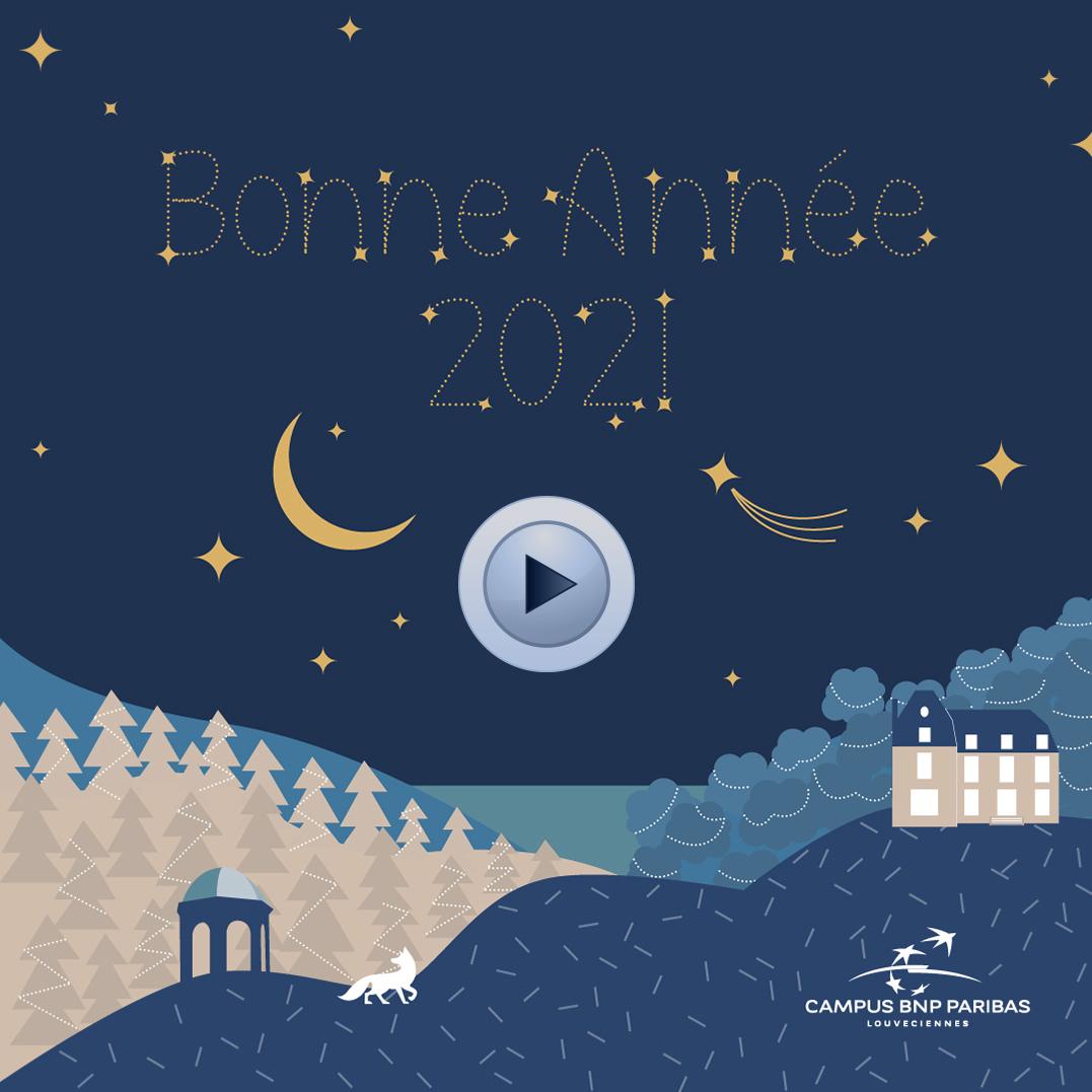 Vidéo : Toutes les équipes du Campus vous souhaitent une bonne année 2021