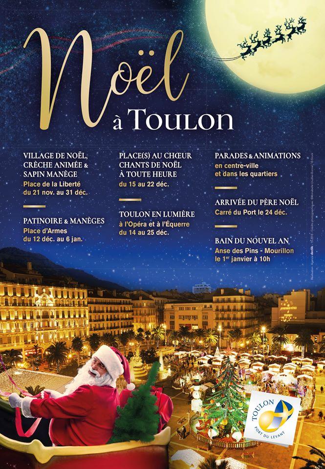 Animations et Marché de Noel à Toulon 2018