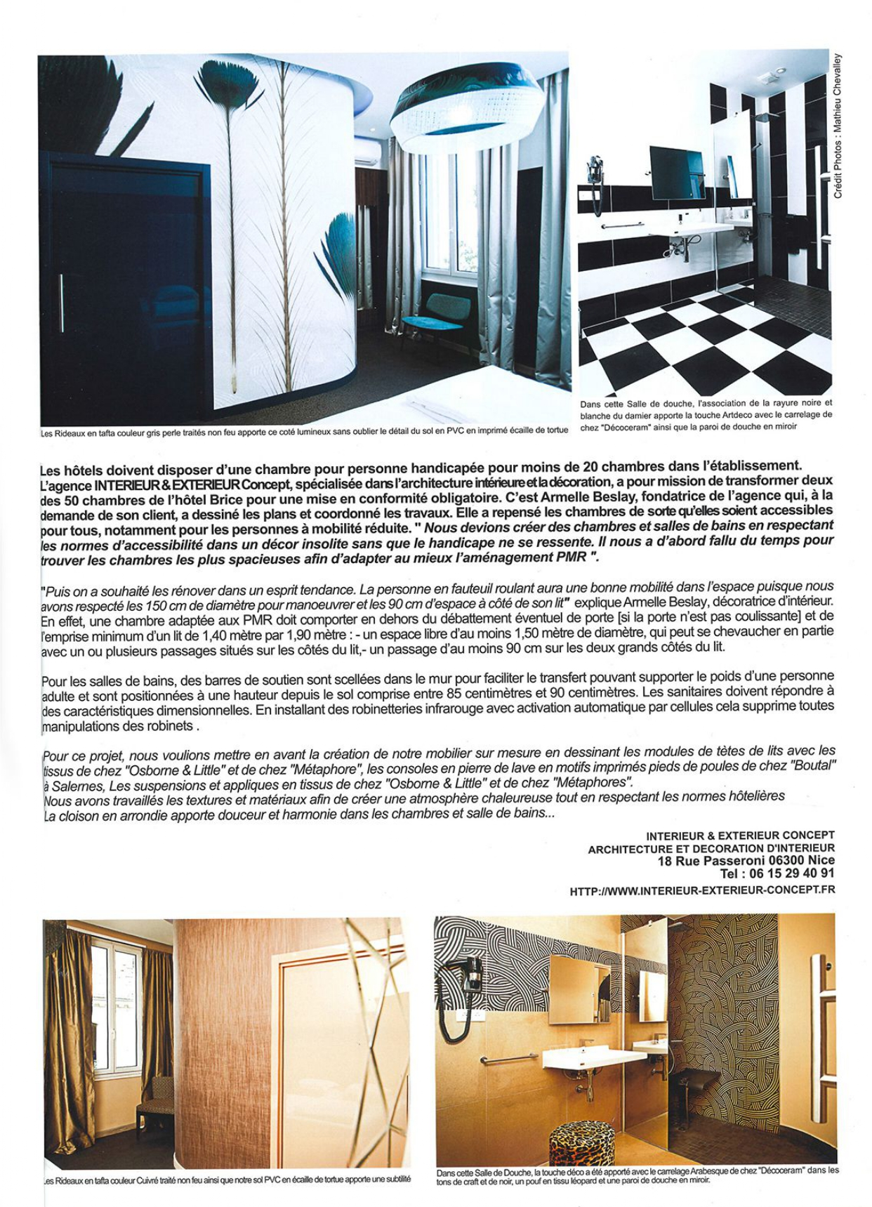 Perspective N°25 - Chambres adaptés aux PMR - Best Western Plus Hôtel Brice Garden Nice