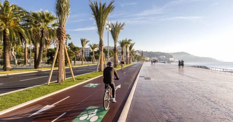 Aménagement pistes cyclables à Nice - Crédit Ville de Nice
