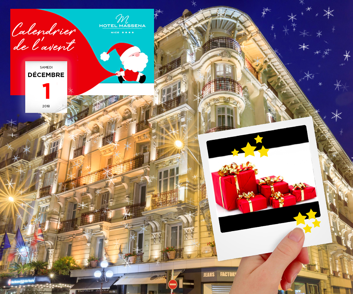 Façade du Best Western Plus Hôtel Masséna Nice - Calendrier de l'Avent 2018