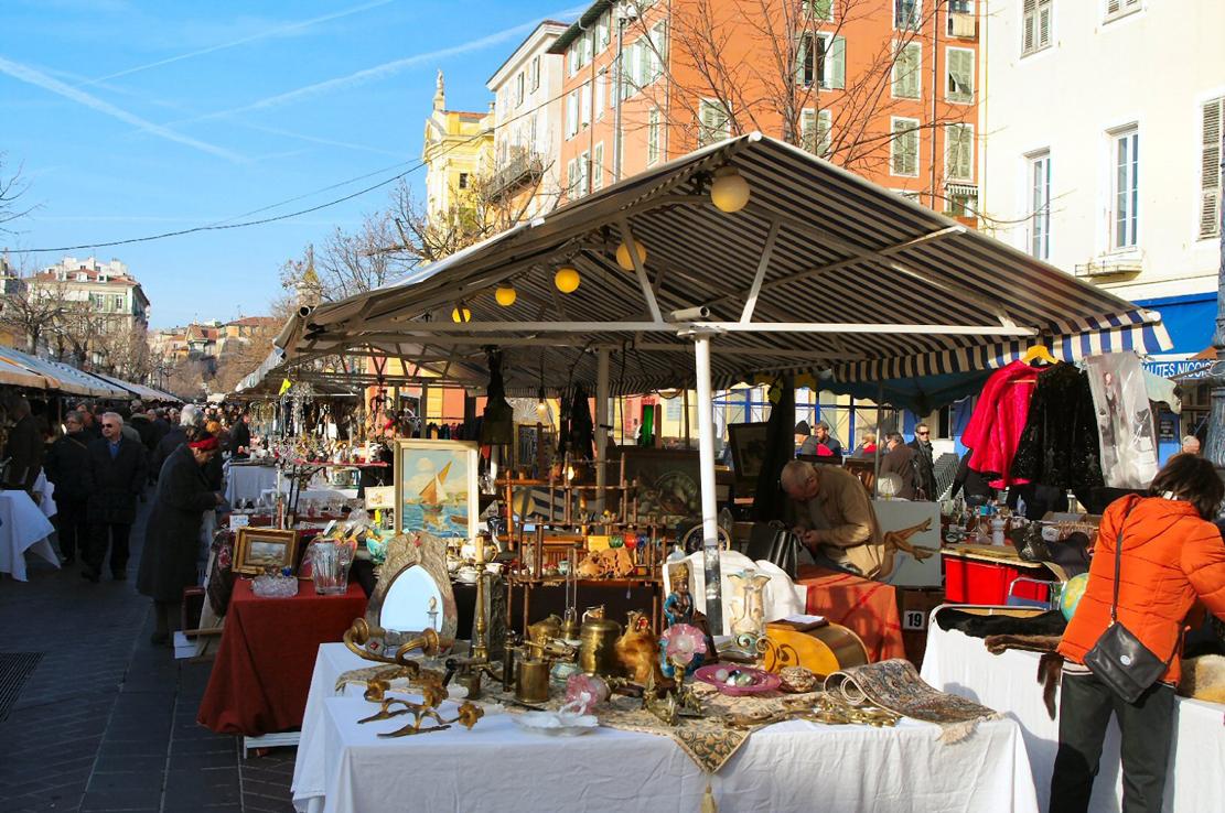 The Saleya flea market Nice