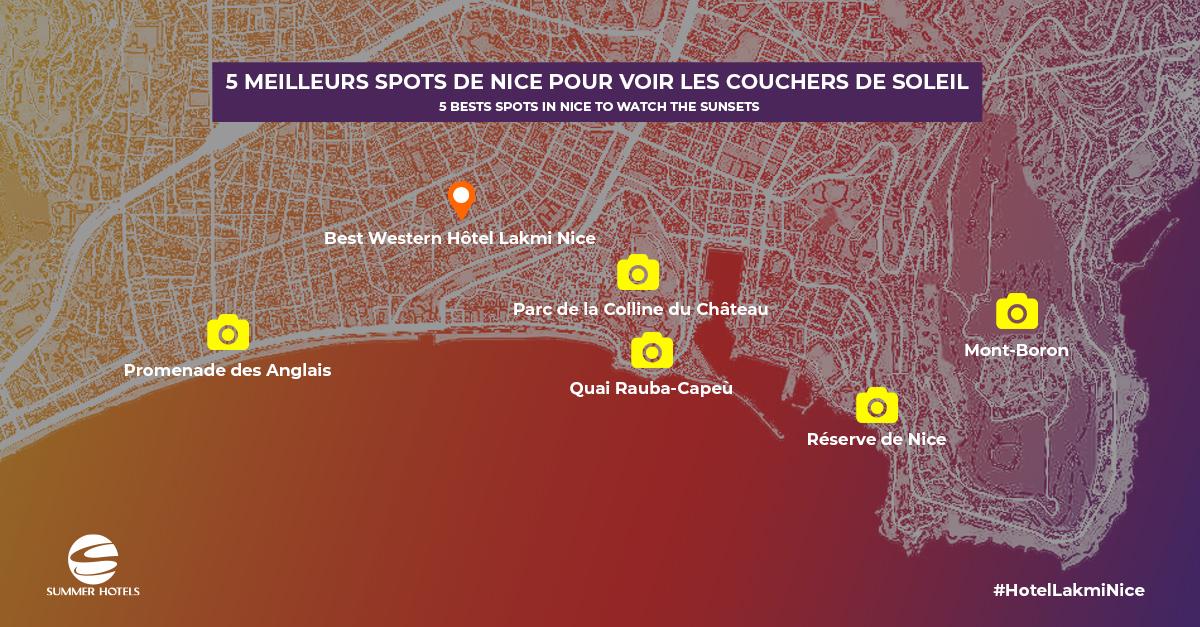 5 lieux où admirer le coucher de soleil à Nice