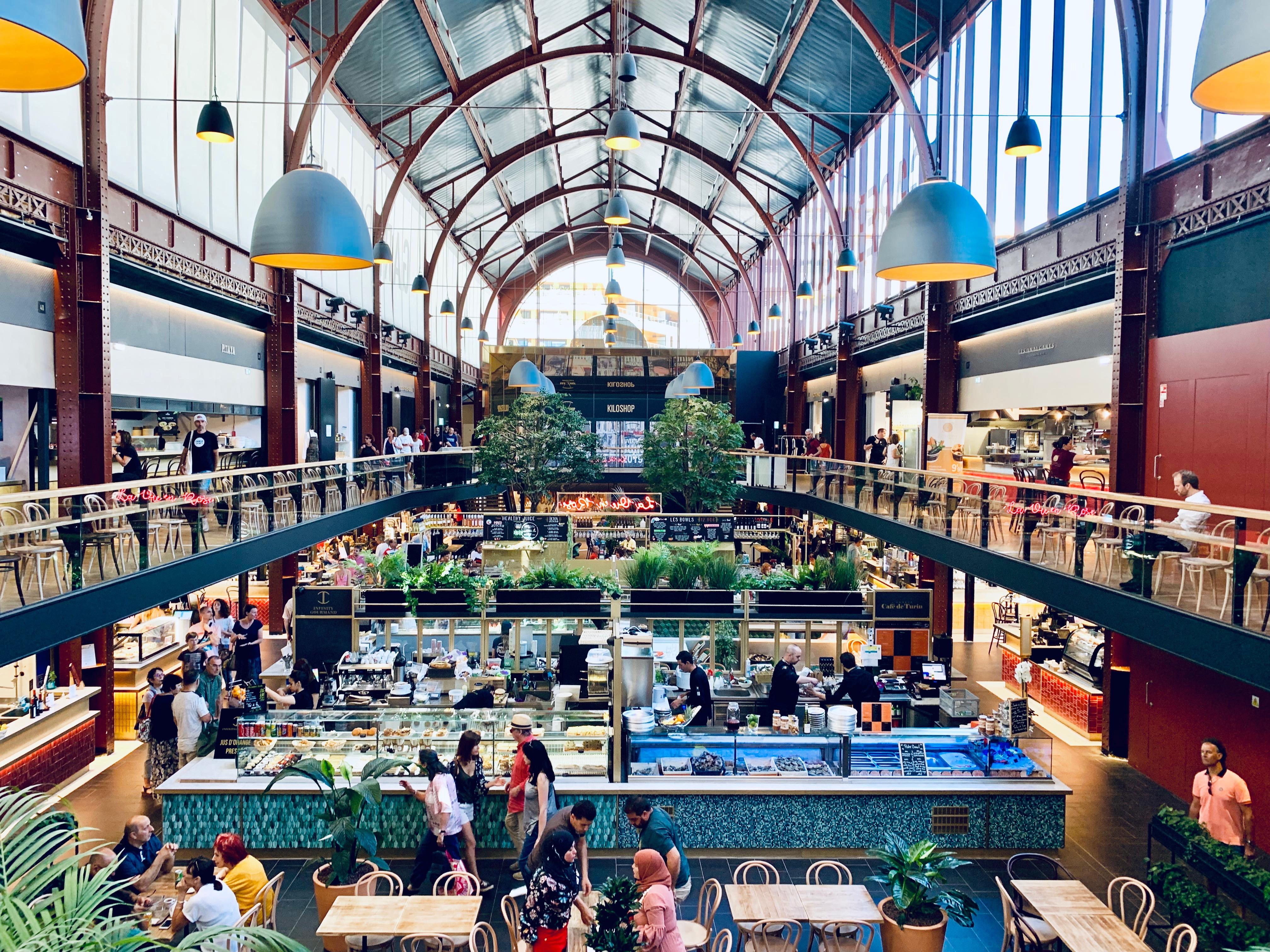 Halle gourmande à la Gare du Sud Nice - Crédit Best Western Hôtel Lakmi Nice