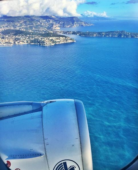View of an airplane on the Cote d'Azur Nice - © Constance.no