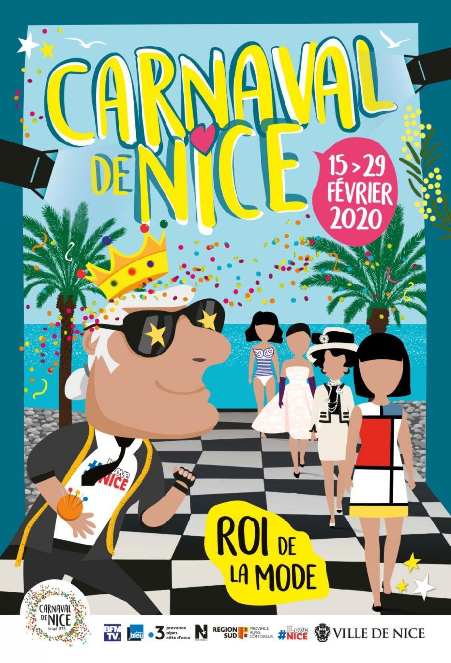 Affiche Carnaval de Nice 2020 - Crédit Ville de Nice
