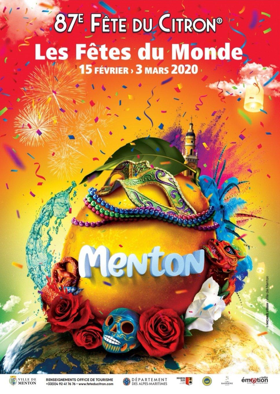 Affiche Fête du Citron 2020 - Crédit Ville de Menton