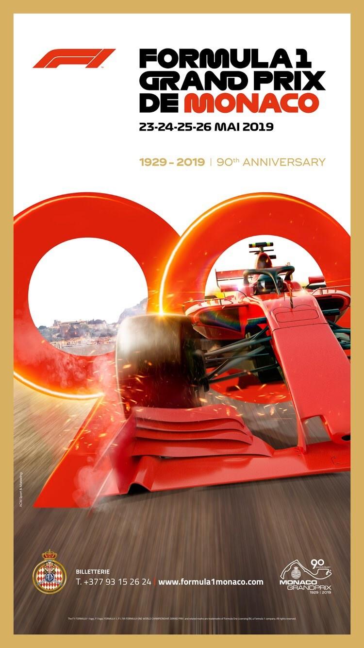 Affiche Grand Prix de Formule 1 de Monaco 2019