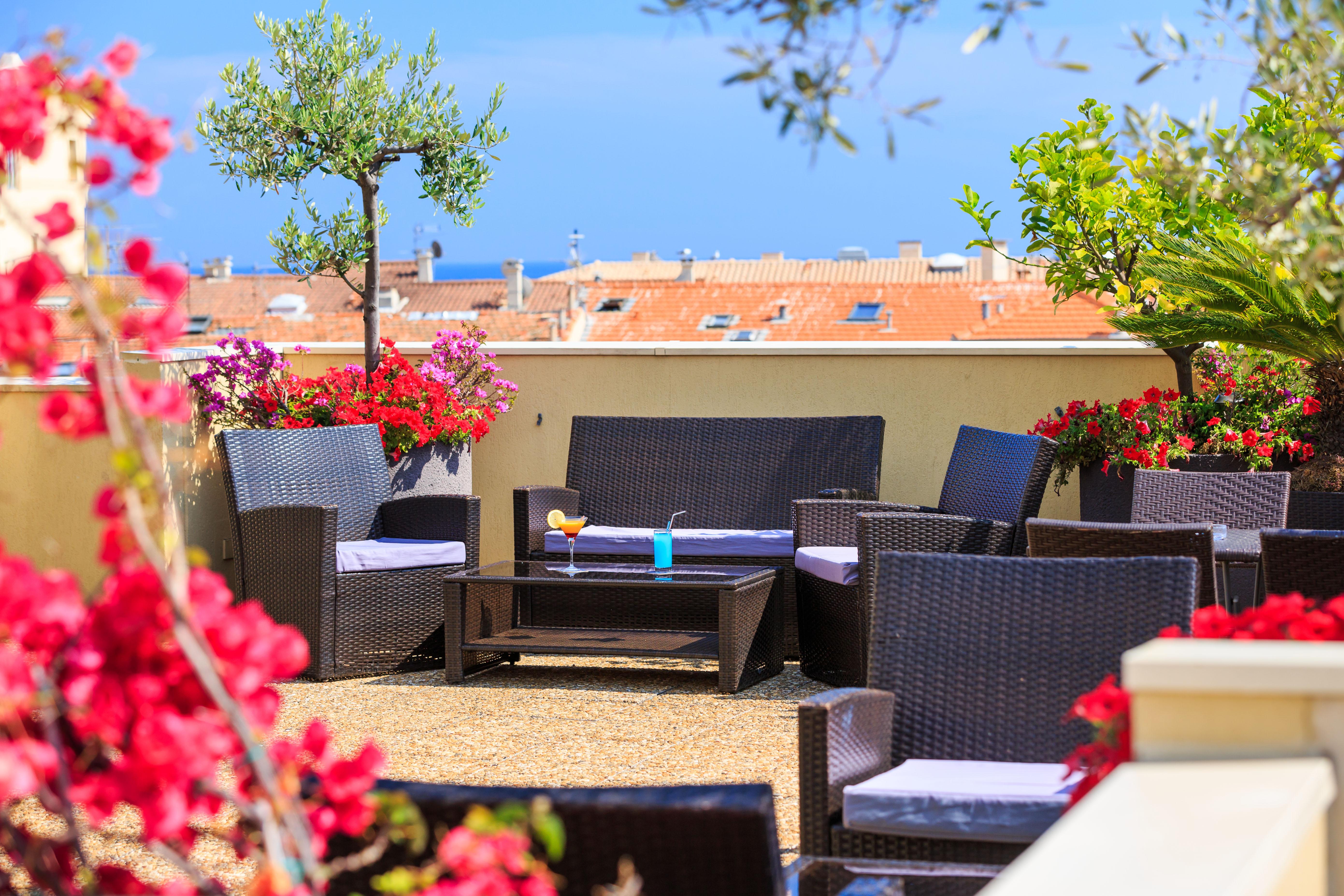 Terrasse du Bar - Quality Hôtel Menton Méditerranée