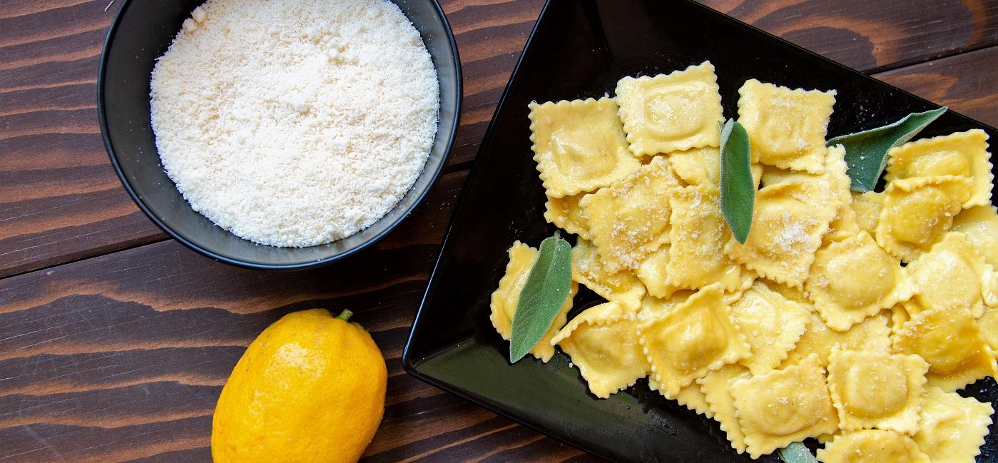 Raviolis au citron © Pasta Piemonte Menton