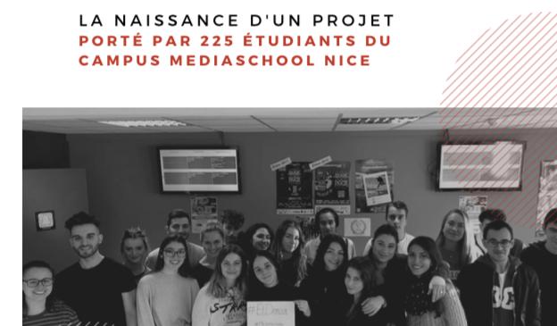 Les étudiants du campus Médiaschool Nice - CLIMACTE