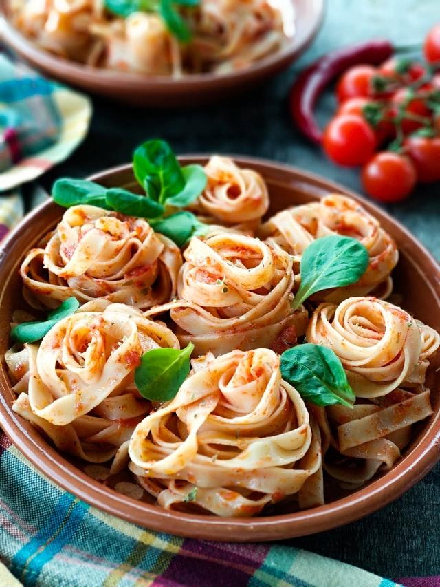 Plat de pâtes italiennes