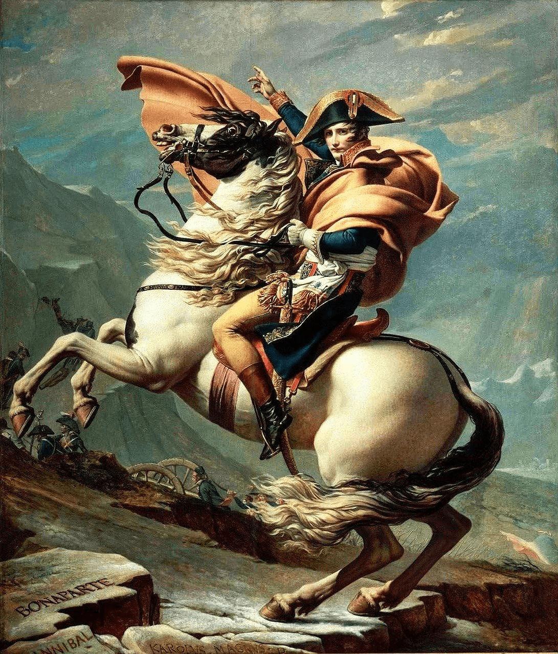 Napoléon Bonaparte sur son cheval blanc