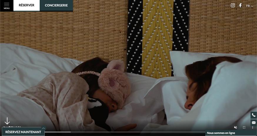 Site Officiel Hotel Doisy Etoile – Vidéo en Home Page