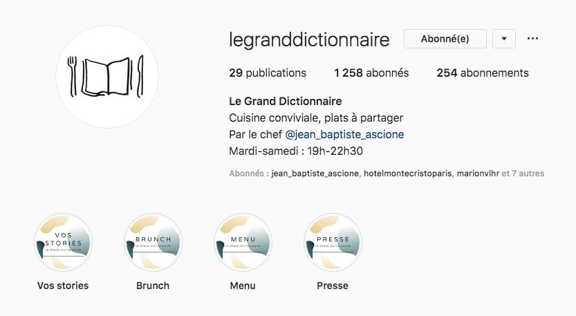 Compte Instagram Grand Dictionnaire