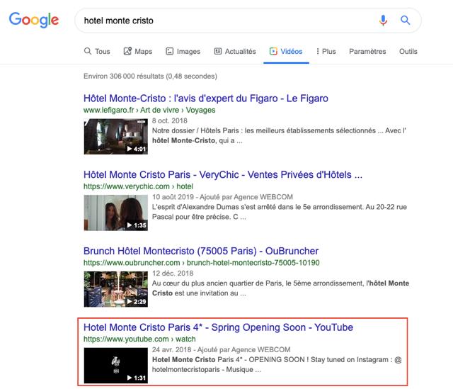 Recherche Google Monte Cristo