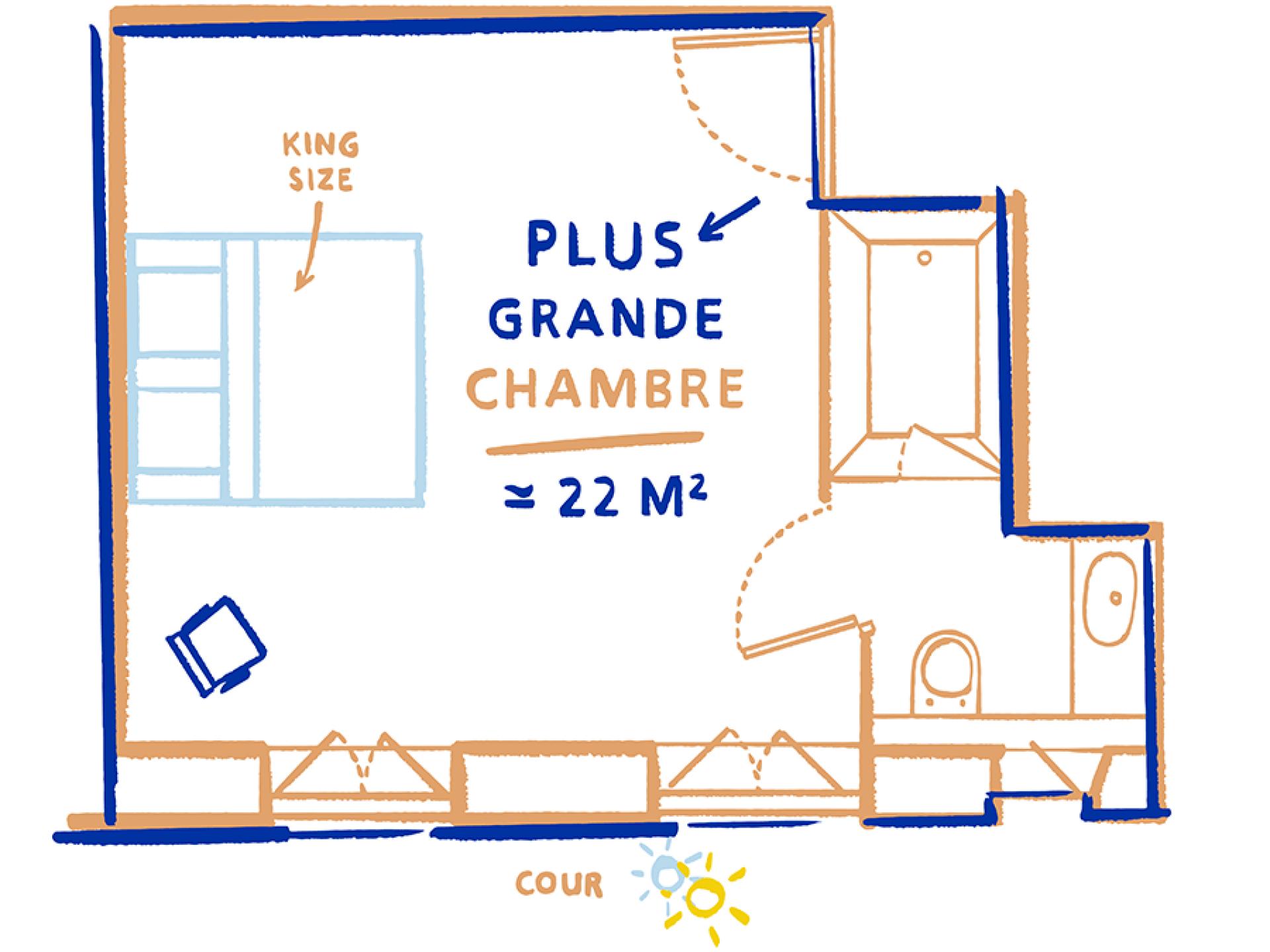 Hotel La Nouvelle République - Chambre Triple Bien