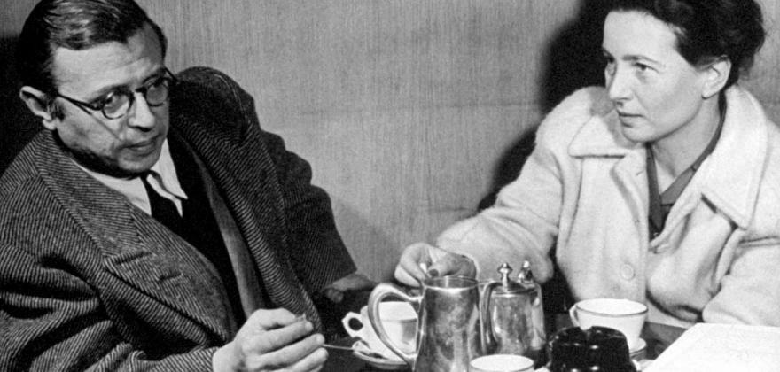 Simone de Beauvoir et Jean-Paul Sartre