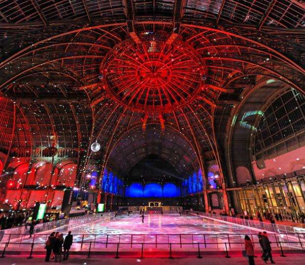 The Grand Palais des Glaces; skating fun on the largest ice rink in the world!