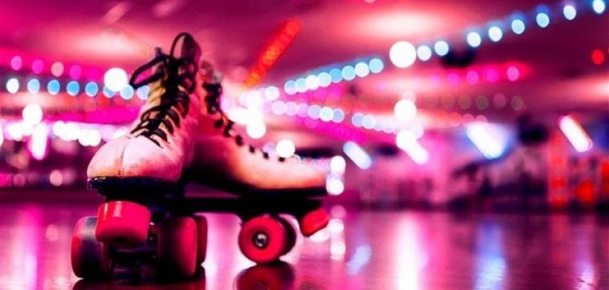 Roller dance floor in Paris