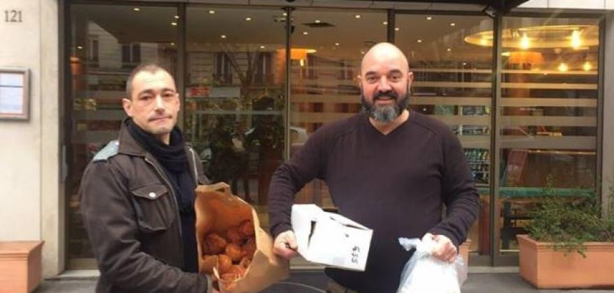 La collecte du lundi des Hôtels Solidaires