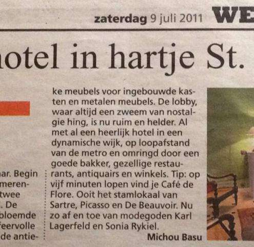Hotel Danube Paris in De Telegraaf