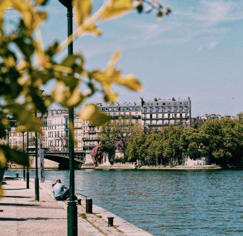 On the banks of the Seine; summer pleasures by the water...