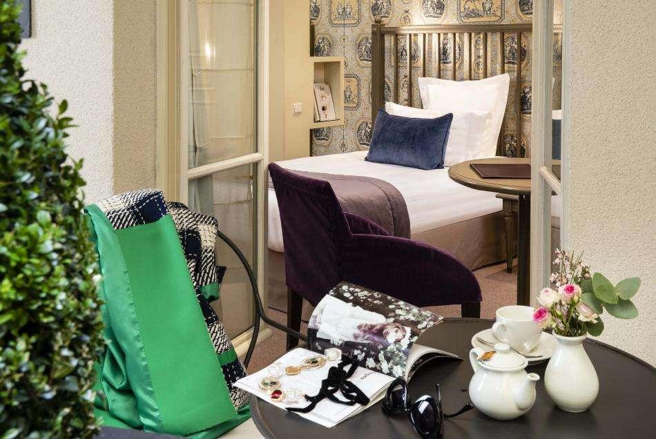 Hôtel Arioso - Chambre single et patio