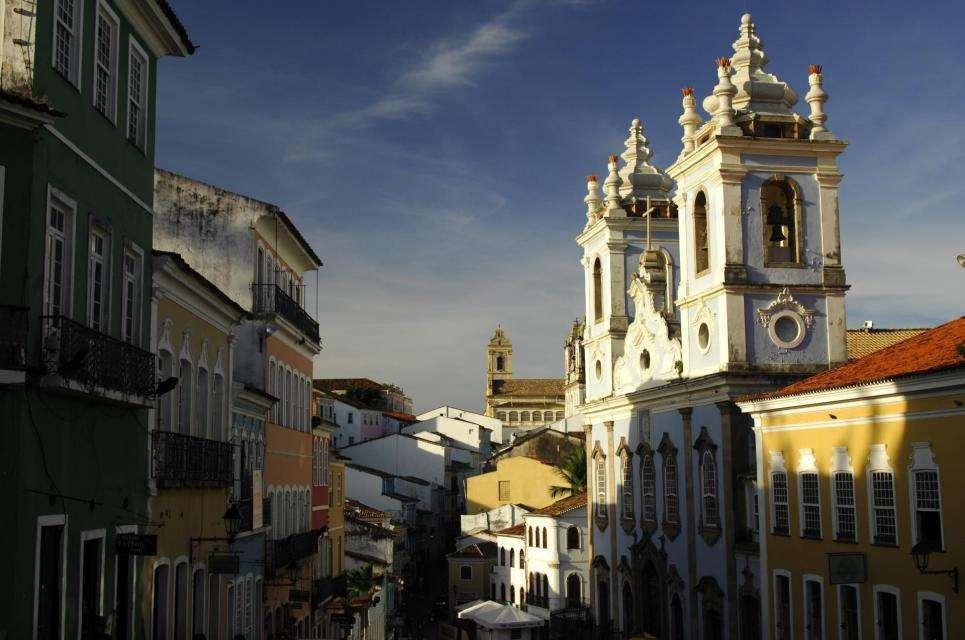 Le Pelourinho, cœur historique de la ville de Salvador